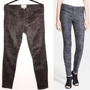 Current/Elliot Black/Gray Animal Print Skinny Pant